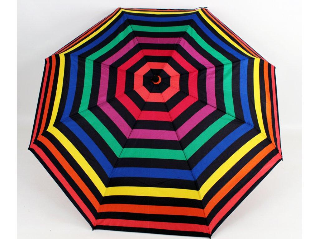 dámský vystřelovací deštník pruhy žlutý