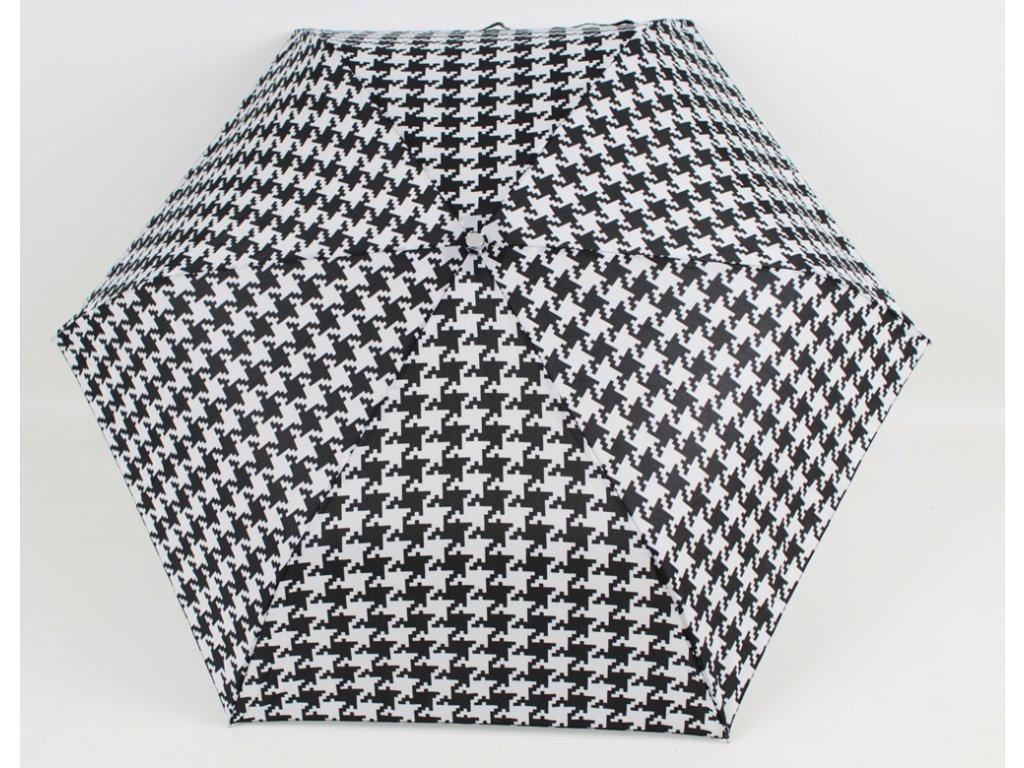 skládací černobílý deštník kohout