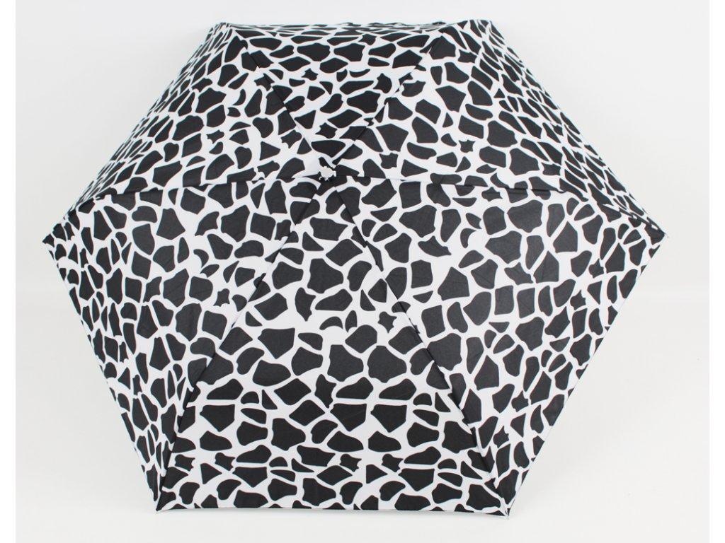 skládací černobílý deštník leopard