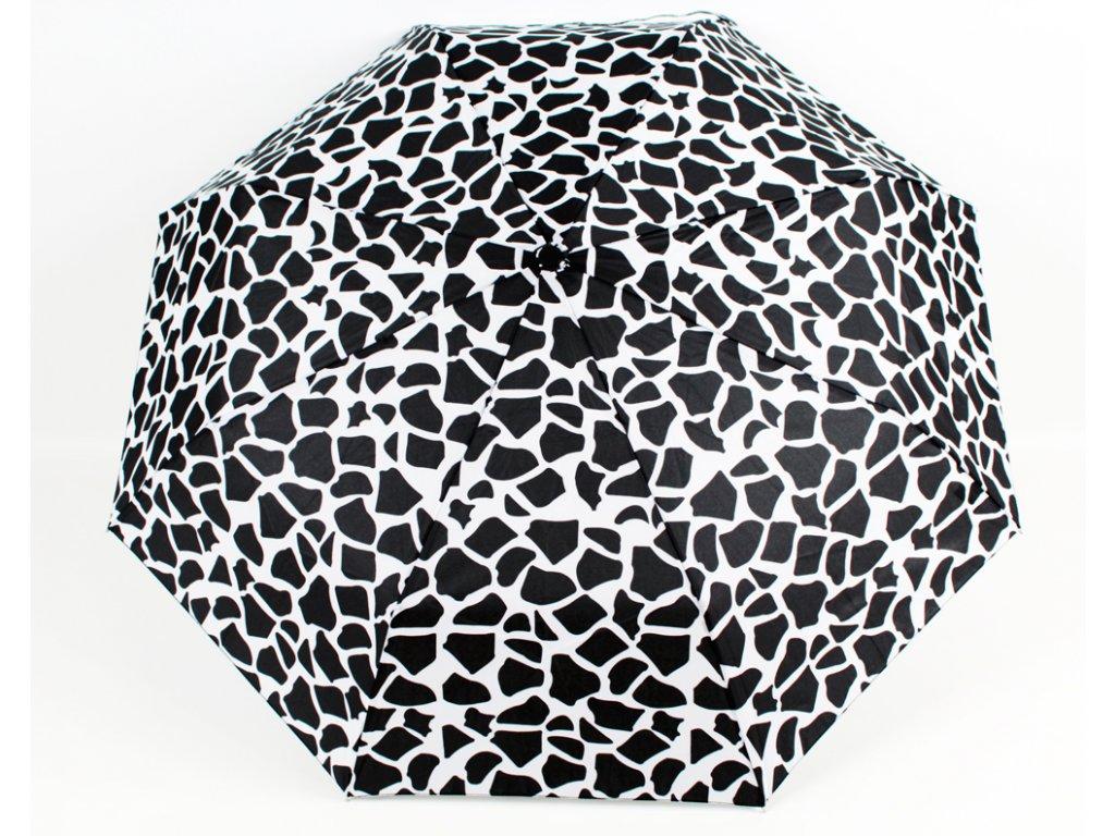 plně automatický černobílý leopard deštník