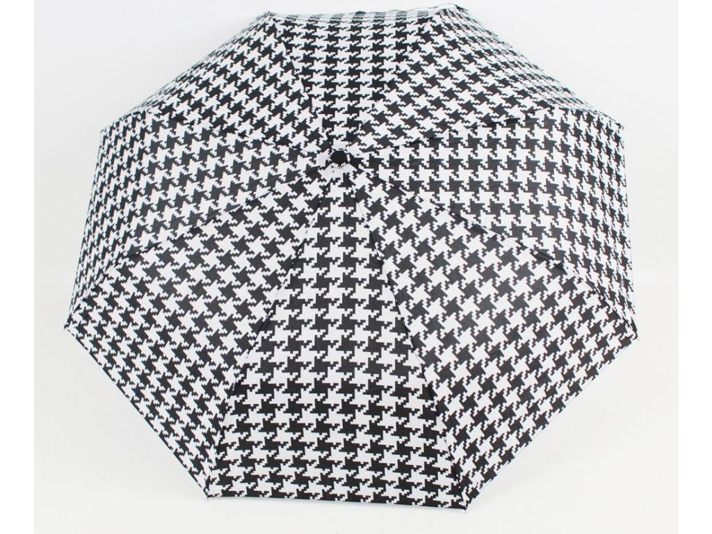 plně automatický černobílý kohout deštník