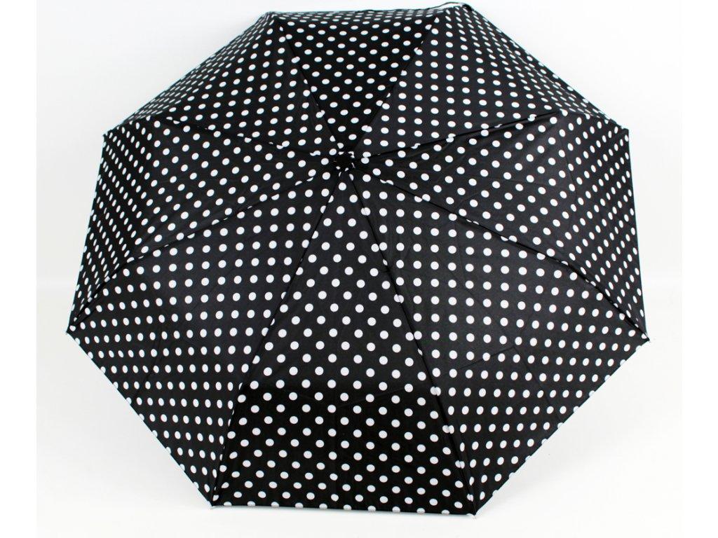 plně automatický černobílý puntíkový deštník 1