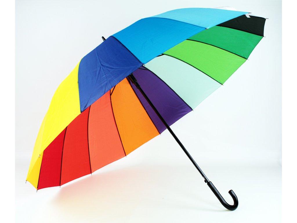 Maxi holový deštník Duha
