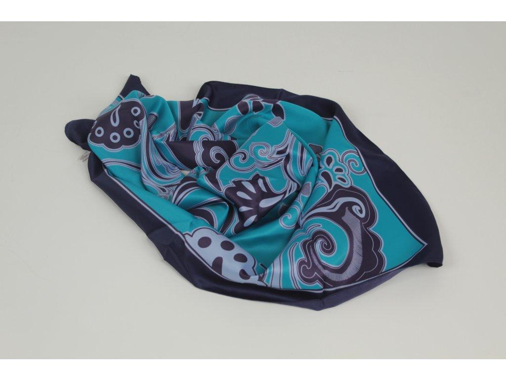 Dámský šátek 90x90 polyester Italy 1121