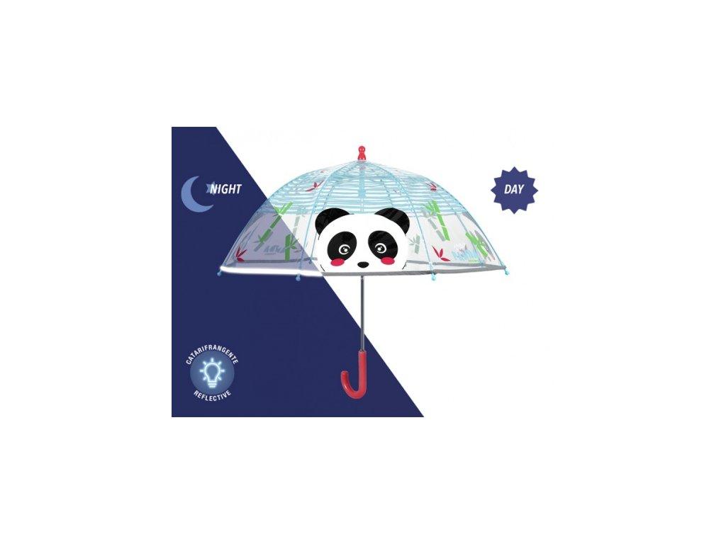detsky-pruhledny-destnik-panda