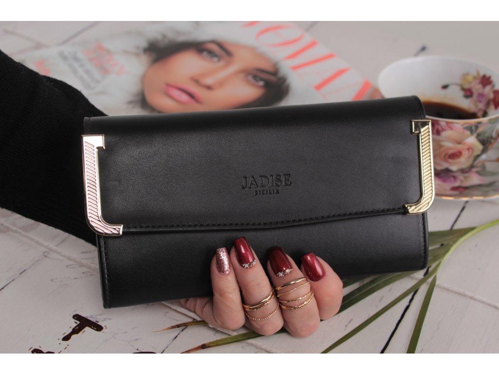 Dámská kožená peněženka JJ černá