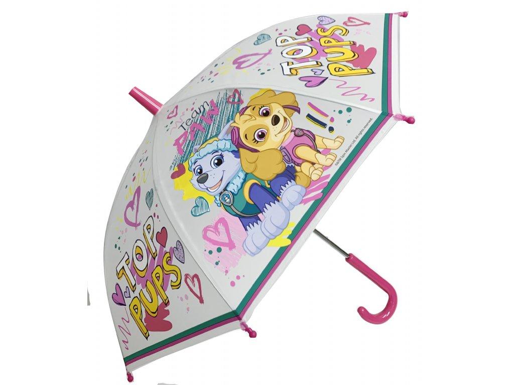 Dětský průhledný deštník PAW PATROL malý, dívčí