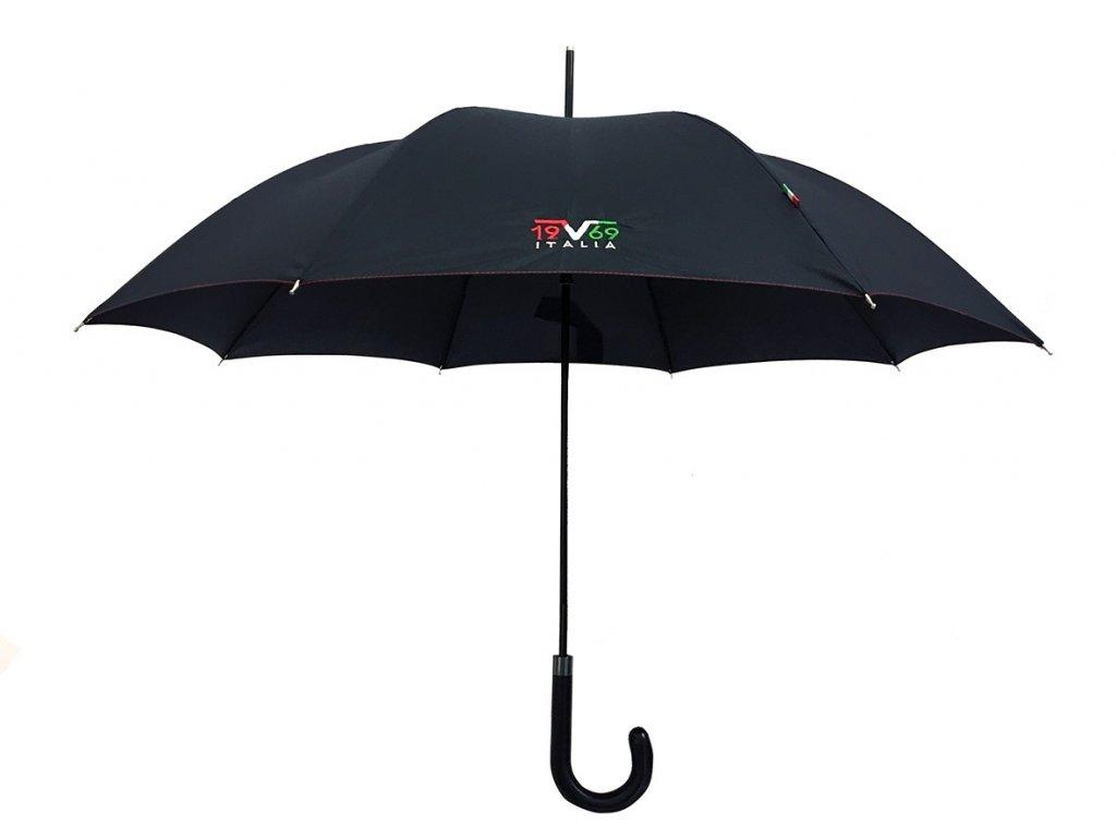 Luxusní unisex holový deštník černý Versace
