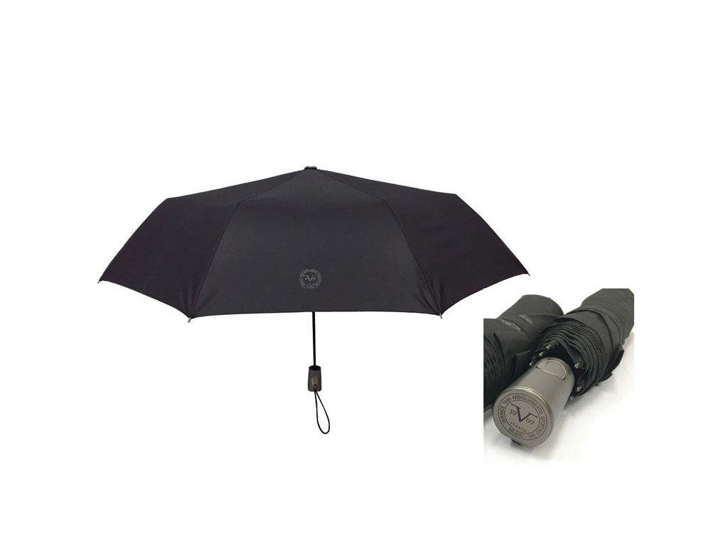 Skládací deštník vystřelovací VERSACE černý
