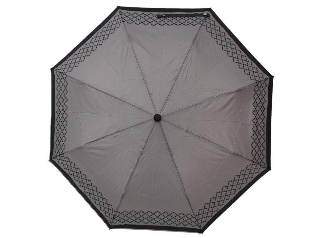 Luxusní skládací vystřelovací deštník VERSACE šedý