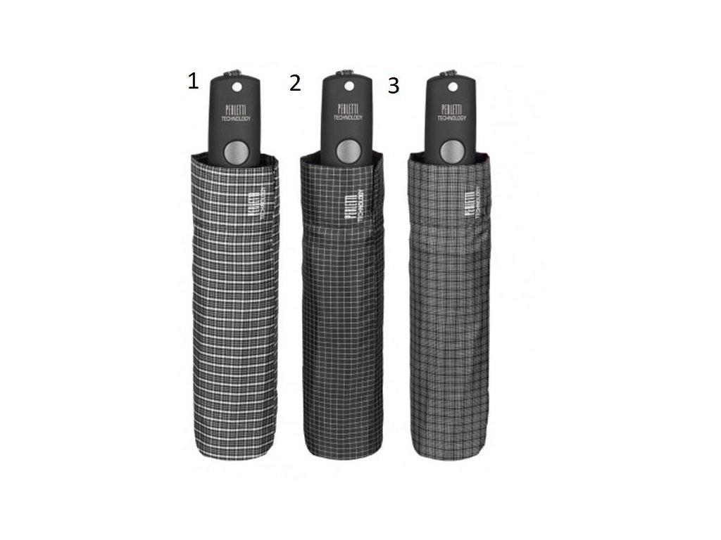 Luxusní pánský skládací vystřelovací deštník Perletti Technology