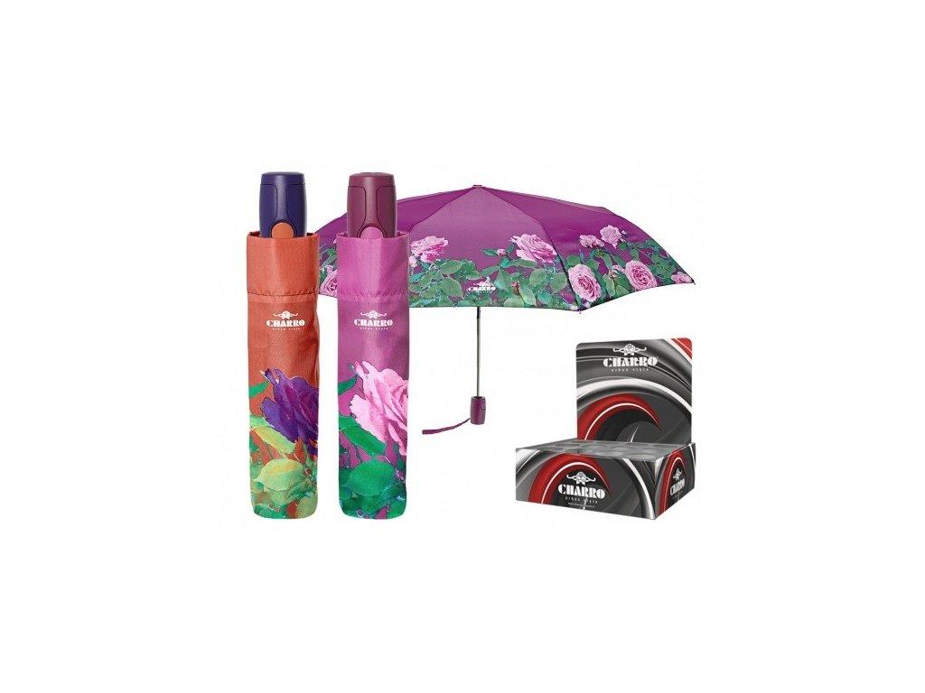 Skládací deštník jednobarevný s růžemi