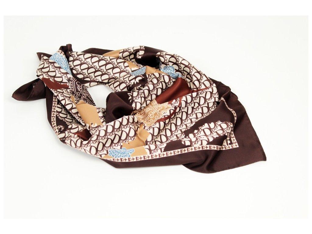 Dámský šátek 90x90 polyester Italy 1145