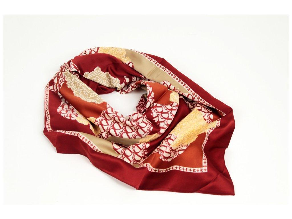 Dámský šátek 90x90 polyester Italy 1144
