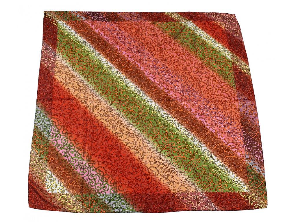Dámský šátek 90x90 polyester Italy 1143