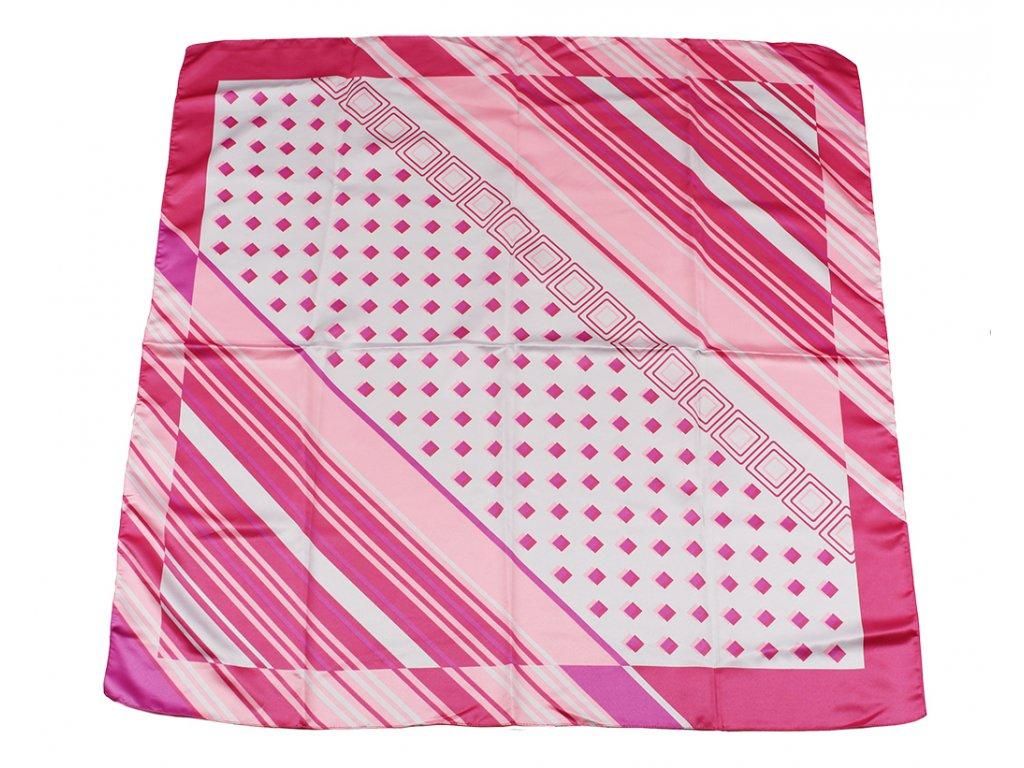 Dámský šátek 90x90 polyester Italy 1142