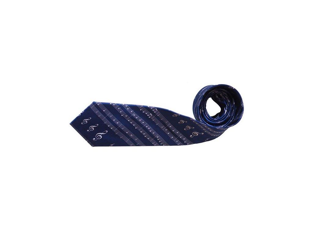 Kravata Noty modrá