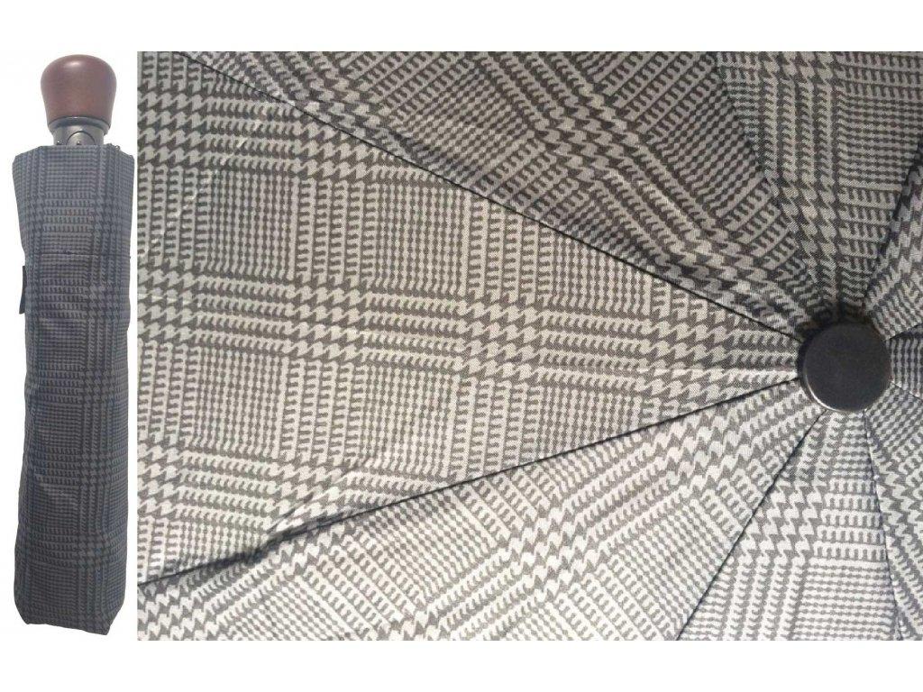 Pánský skládací vystřelovací deštník Mřížka kombi