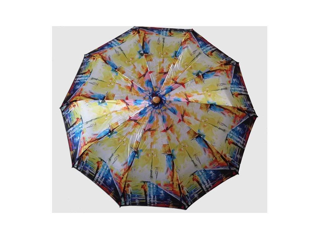 Plně automatický skládací deštník Malba ulice