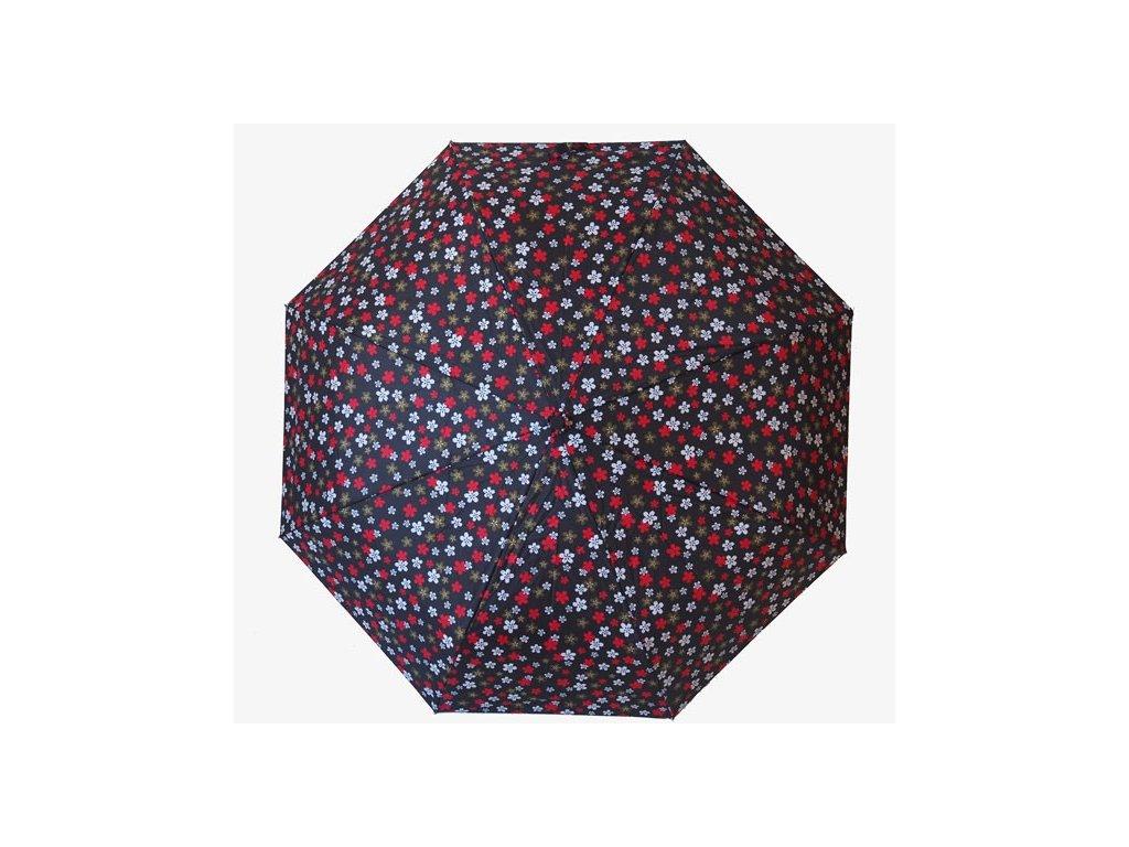 Plně automatický skládací deštník Květiny1