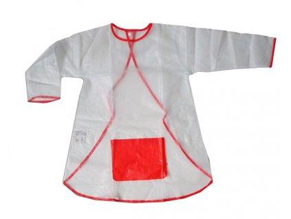 Dětská zástěrka na malování s rukávy bílá