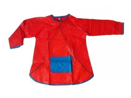 Dětská zástěrka na malování s rukávy červená