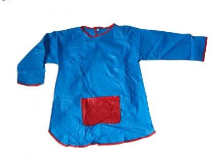 Dětská zástěrka na malování s rukávy modrá