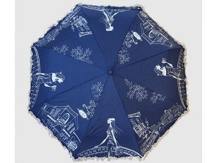 Skládací deštník Kavárna