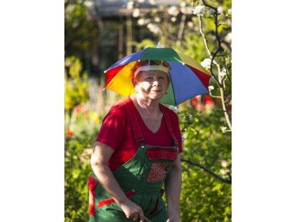 Deštník na hlavu 4 barevný
