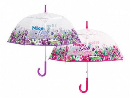 """Průhledný deštník """"NICE GIRLS"""""""