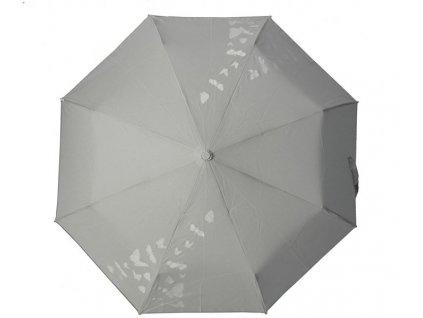 Skládací vystřelovací deštník měnící barvu Motýli světlý