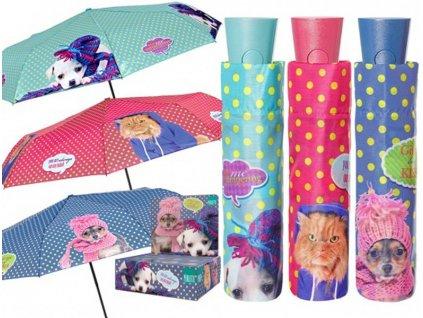 Skládací vystřelovací deštník Kočky, Psi