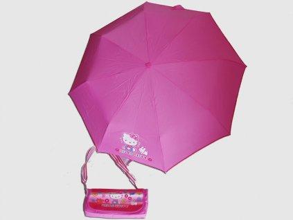 Dětský skládací deštník Hello Kitty růžový