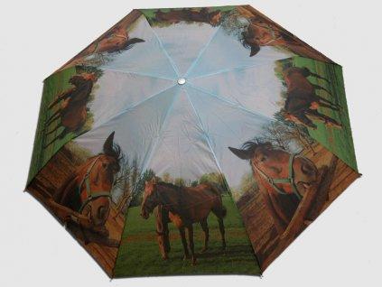 Skládací deštník Koně