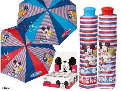 Dětský skládací deštník Mickey proužek