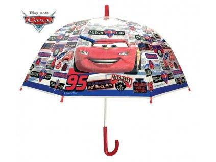 Dětský průhledný deštník Auta