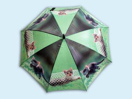 Dětský holový deštník Kočky na houpačce