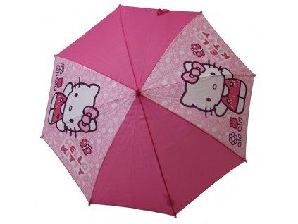 Dětský deštník Hello Kitty vystřelovací