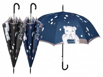 Luxusní dámský holový deštník Perletti - Maison, Medvídek klasik