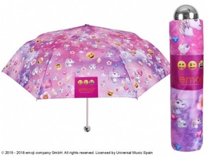 Skládací deštník Emoji růžový