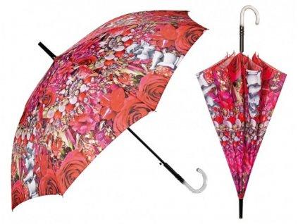 Dámský holový deštník Květiny2