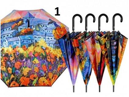 Dámský holový deštník Obrazy