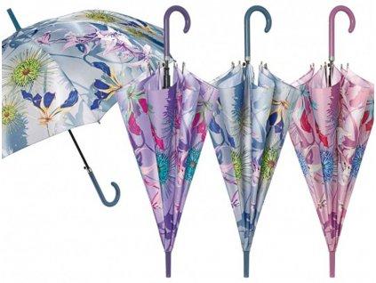 Dámský holový deštník Květiny1