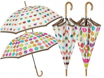 Dámský holový deštník Donuts, Makronky