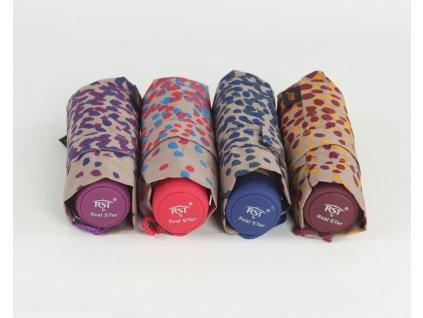 dámský skládací mini deštník lístečky