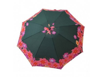 dámský mini skládací deštník Růže zelený