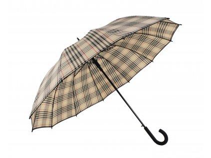 Maxi holový deštník béžová kostka