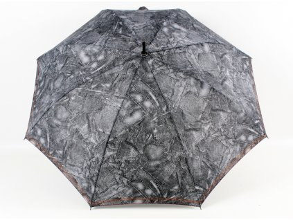 dámský holový deštník riflový černý