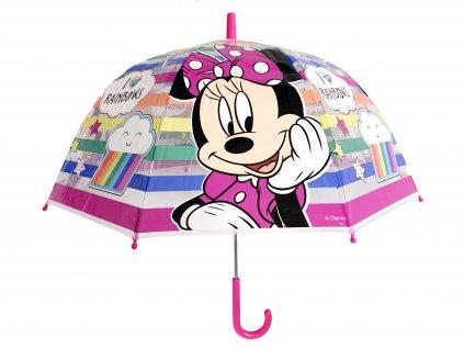 Dětský průhledný deštník Minnie
