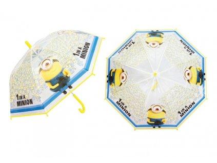 Dětský průhledný deštník Mimoni